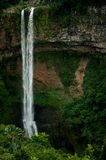 Chamarel Waterfall in the tropical island jungle. Mauritius. Chamarel Waterfall in the tropical island jungle of Mauritius stock photos