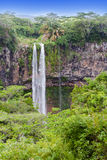 Chamarel waterfalls in Mauritius Royalty Free Stock Photos