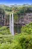 Chamarel waterfalls in Mauritius royalty free stock photos