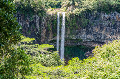 Chamarel Waterfalls in Mauritius Royalty Free Stock Images