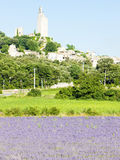 Chamaret with lavender field Stock Photography