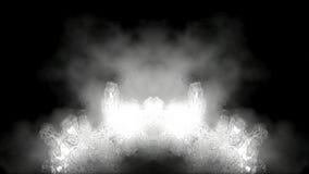 chamas brancas abstratas sobre o preto HD 1080 ilustração stock