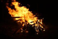 Chamas da fogueira Imagem de Stock Royalty Free