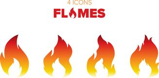 Chamas e fogo quentes ilustração stock