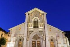 Chambéry大教堂在法国 免版税库存照片