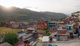 Chamba city at dawn Royalty Free Stock Photos