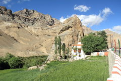 Chamba kloster i Mulbekh Arkivfoto