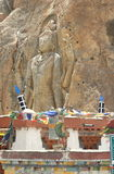 Chamba statua w Mulbekh Zdjęcia Royalty Free