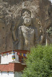 Chamba Statue in the village of Mulbekh, Ladakh Royalty Free Stock Images