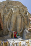 Chamba Statue in the village of Mulbekh, Ladakh Royalty Free Stock Photo