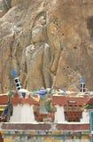 Chambastandbeeld in Mulbekh Royalty-vrije Stock Foto's