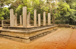 Chamber. Remains of ancient city structure of Anuradhapura Sri Lanka. Dated 2000 years back Royalty Free Stock Photography