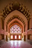 One of the colorful vaults of the Arg of Karim khan royalty free stock image