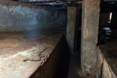 Chamber auxiliar cerca del lugar anterior de la trata de esclavos en la ciudad de piedra, Zanzíbar Fotos de archivo libres de regalías