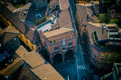 Chamber of Commerce from above, Bologna, Italy Stock Photo