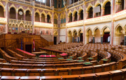 Chamber of Congress, Hungarian Parliament Stock Photography