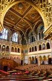 Chamber of Congress, Hungarian Parliament stock image