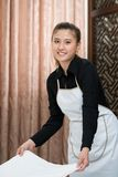 Chamber maid at work Royalty Free Stock Photos