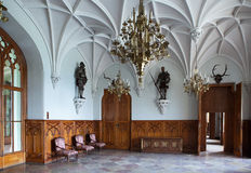 Chamber in nice Gothic castle in Europe Stock Photo