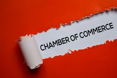 Free Chamber Of Commerce Text Written In Torn Paper Royalty Free Stock Images - 163992289