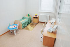 Chamber for one child at a children hospital Royalty Free Stock Photo