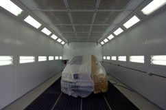 Chamber for painting cars Stock Image