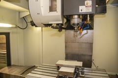 The chamber room of vertical CNC milling machine .