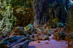 Chamber three view of callao cave, cagayan philippines stock image