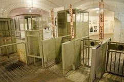 Chamberi ondergrondse post op 18 Oktober, 2014 in Madrid, Spanje Stock Foto