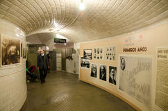 Chamberi underjordisk station på Oktober 18, 2014 i Madrid, Spanien Fotografering för Bildbyråer