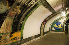 Chamberi underjordisk station på Oktober 18, 2014 i Madrid, Spanien Royaltyfri Foto