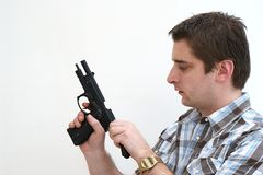 Chambering the Round Stock Photos