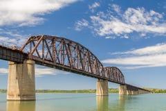 Chamberlain Railroad Bridge. Dakota Southern Missouri River Railroad Crossing in Chamberlain, South Dakota, USA Stock Image