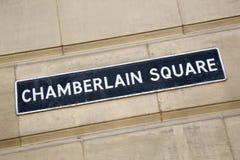 Chamberlain Square Street Sign Stock Image