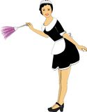 Chambermaid. Vector cartoon portrait of chambermaid. no any model has used for this image Royalty Free Stock Photography