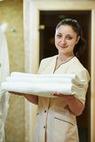 Chambermaid at hotel Stock Images