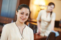 Chambermaid at hotel Stock Photos
