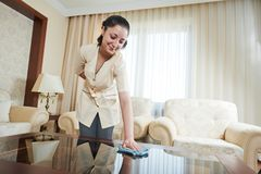 Chambermaid at hotel service Royalty Free Stock Photos