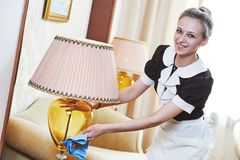 Chambermaid at hotel service Stock Photography