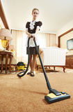 Chambermaid at hotel service Stock Photo