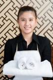 Chambermaid przy pracą Fotografia Royalty Free