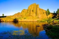 Chambermaid Rock sunset Stock Photo