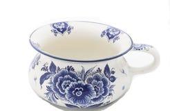 Chamberpot holandês antigo de China Imagens de Stock