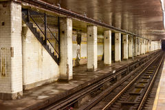 Chambers Street Subway Station - New York City Stock Image