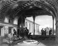 Chambers of the Sultan. Illustration for the Emperor Nicholas 1. Paris 1841 Royalty Free Stock Photo