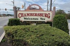 Chambersburg le acoge con satisfacción Fotos de archivo libres de regalías