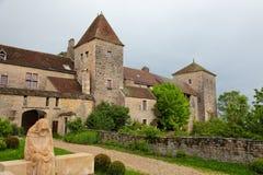 chambertin chateau de gevrey 免版税库存图片