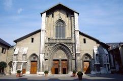 Chambery-Kathedralenkirche im Wirsing, Frankreich Stockfotos