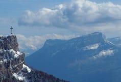 Chambery Nivolet cross and Granier mountain Royalty Free Stock Photos