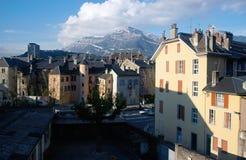 Chambery stad i savojkål, Frankrike Arkivfoton